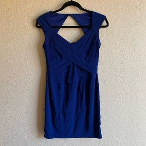 Jones Wear: Cobalt Blue Fitted Dress